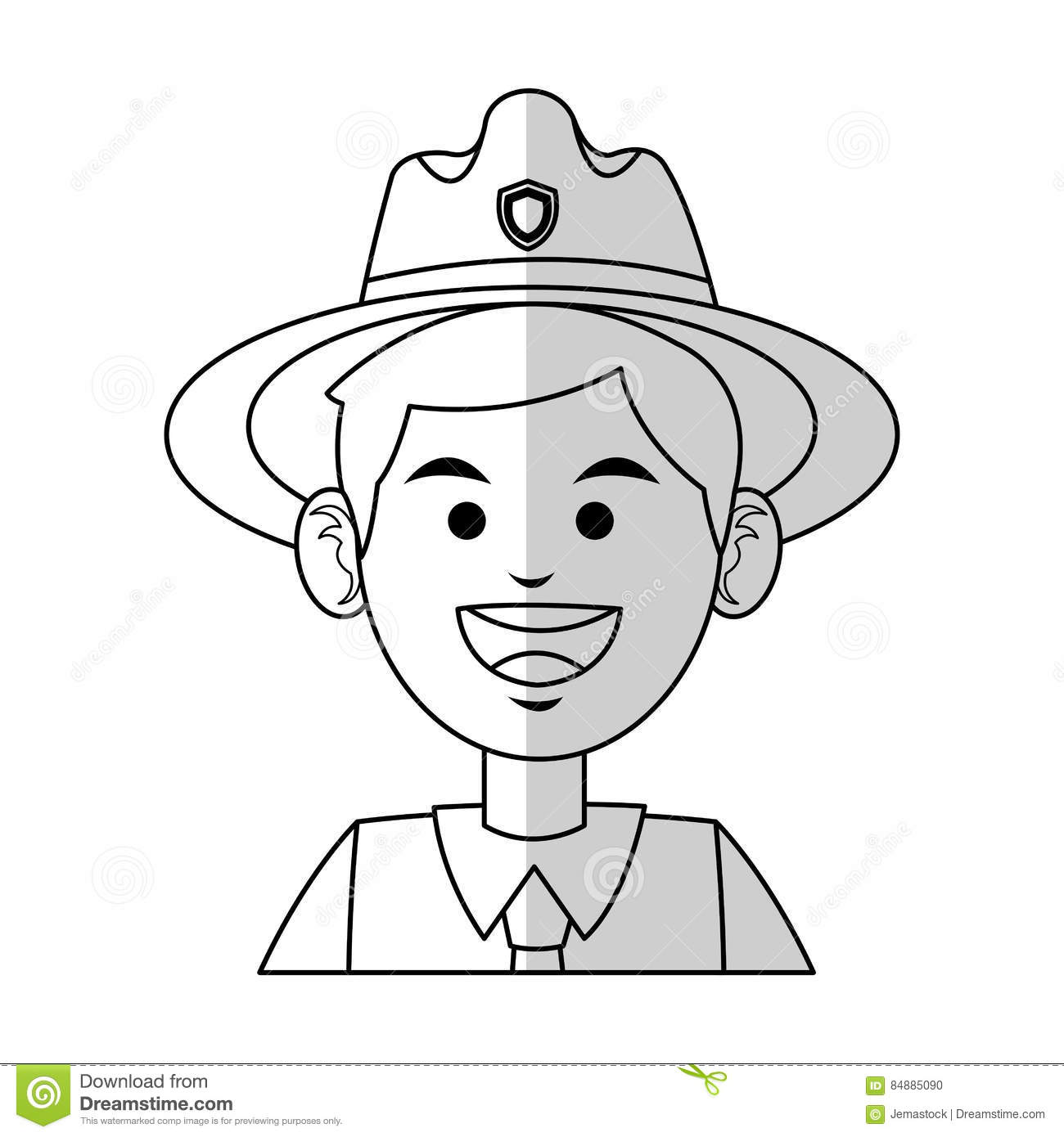 Forest Ranger Icon Stock Vector Illustration Of Forest