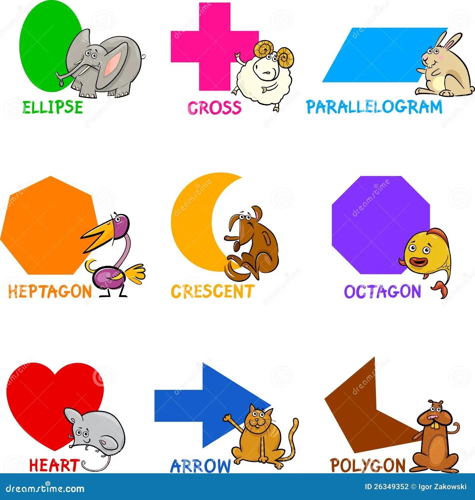 Formas Geometricas Basicas Com Animais Dos Desenhos