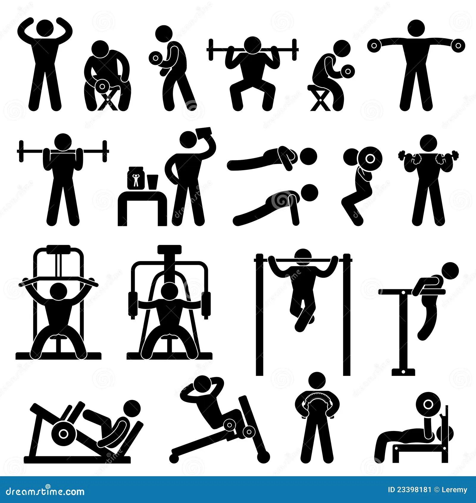 Formation D Exercice De Construction De Fuselage De Gymnase De Gymnastique Illustration De