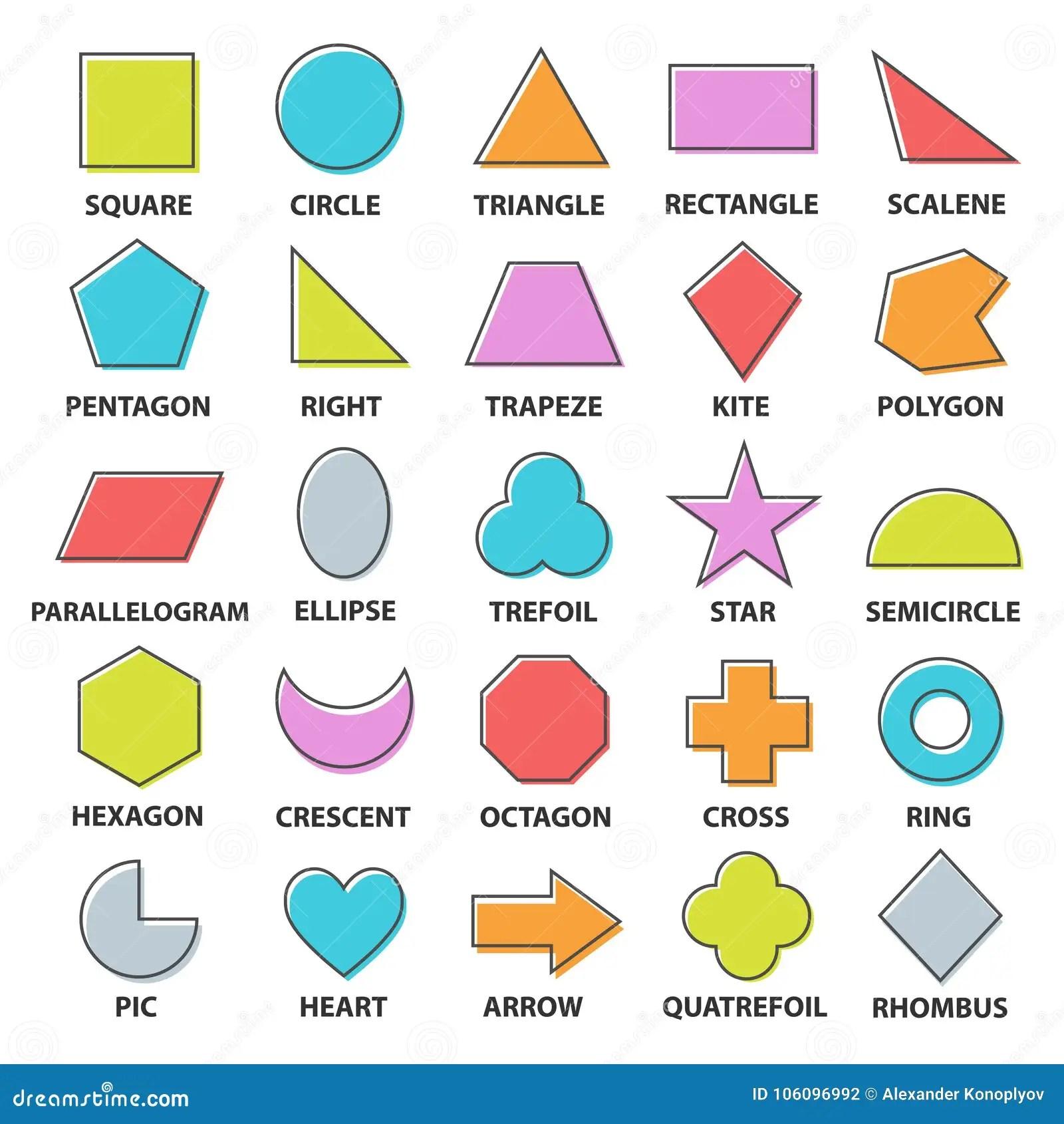 Forme Di Base Fissate Illustrazione Vettoriale