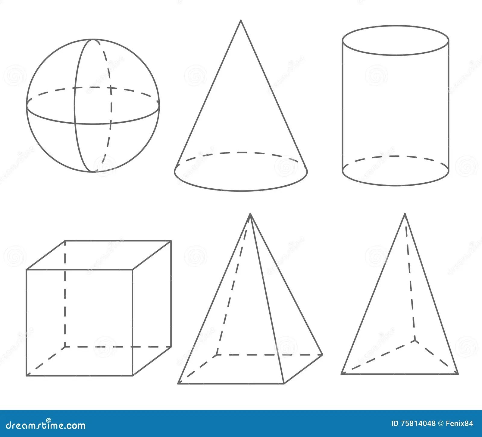 Formes Geometriques De Volume Sphere Cone Cylindre