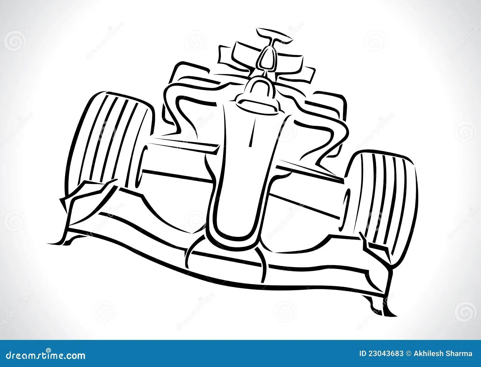 Formula 1 Racing Car Vector Stock Vector