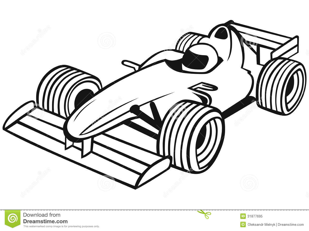 Formula 1 Racing Car Stock Vector Illustration Of Object