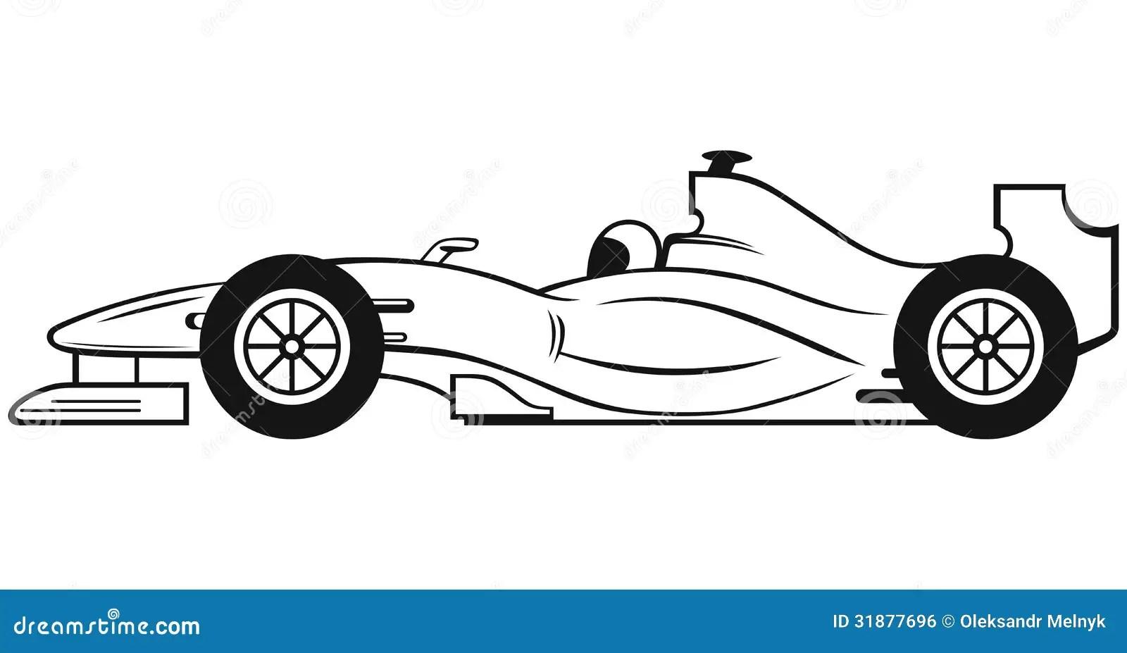 Formula 1 Racing Car Stock Vector Illustration Of