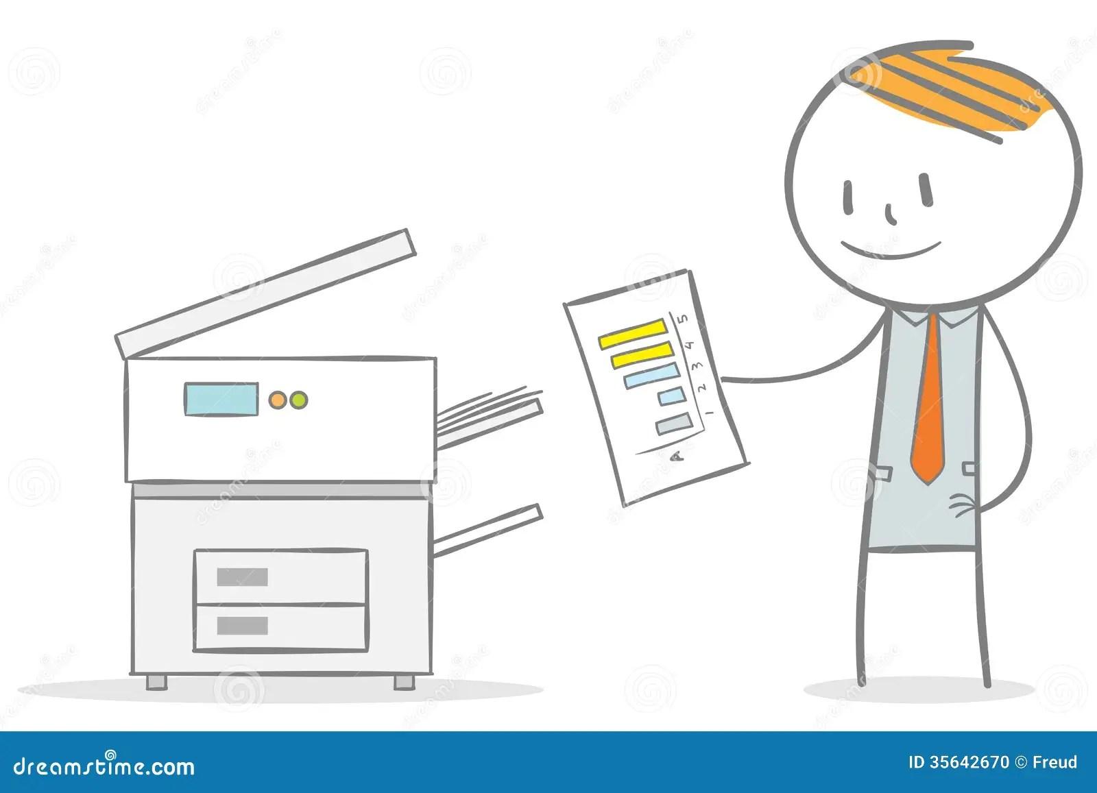 Fotocopiadora Ilustracion Del Vector Ilustracion De