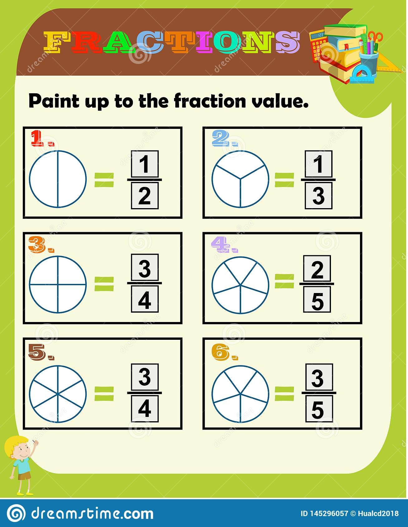 Fractions Worksheet Fraction Review Fraction Practice Educational Equivalent Fractions Math