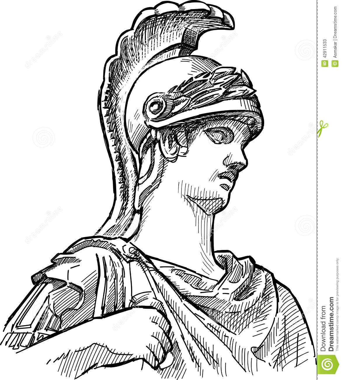 Fragment Of Ancient Statue Stock Vector Illustration Of