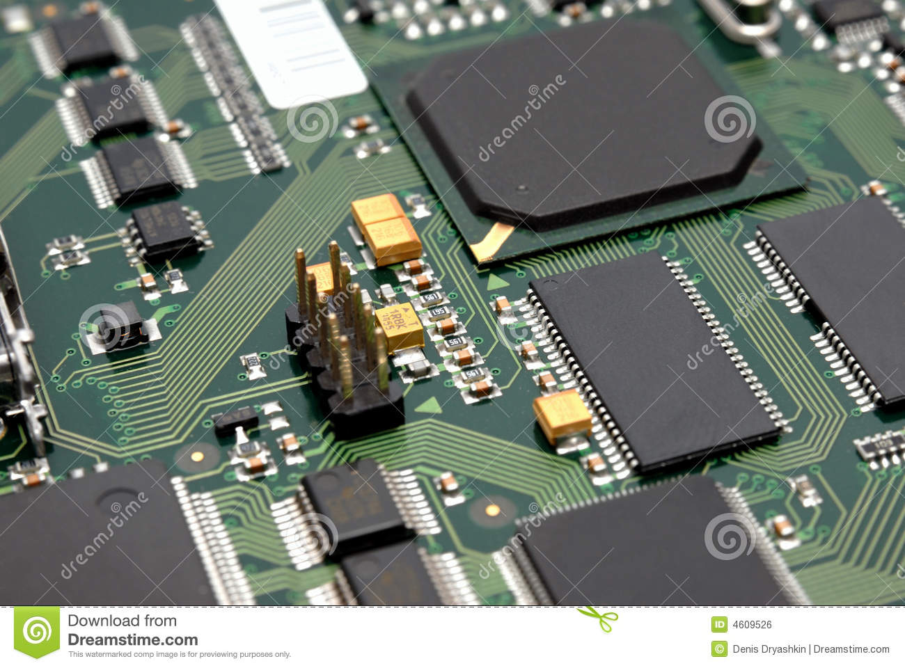 Fragment Of A Computer Printed-circuit-board Royalty Free