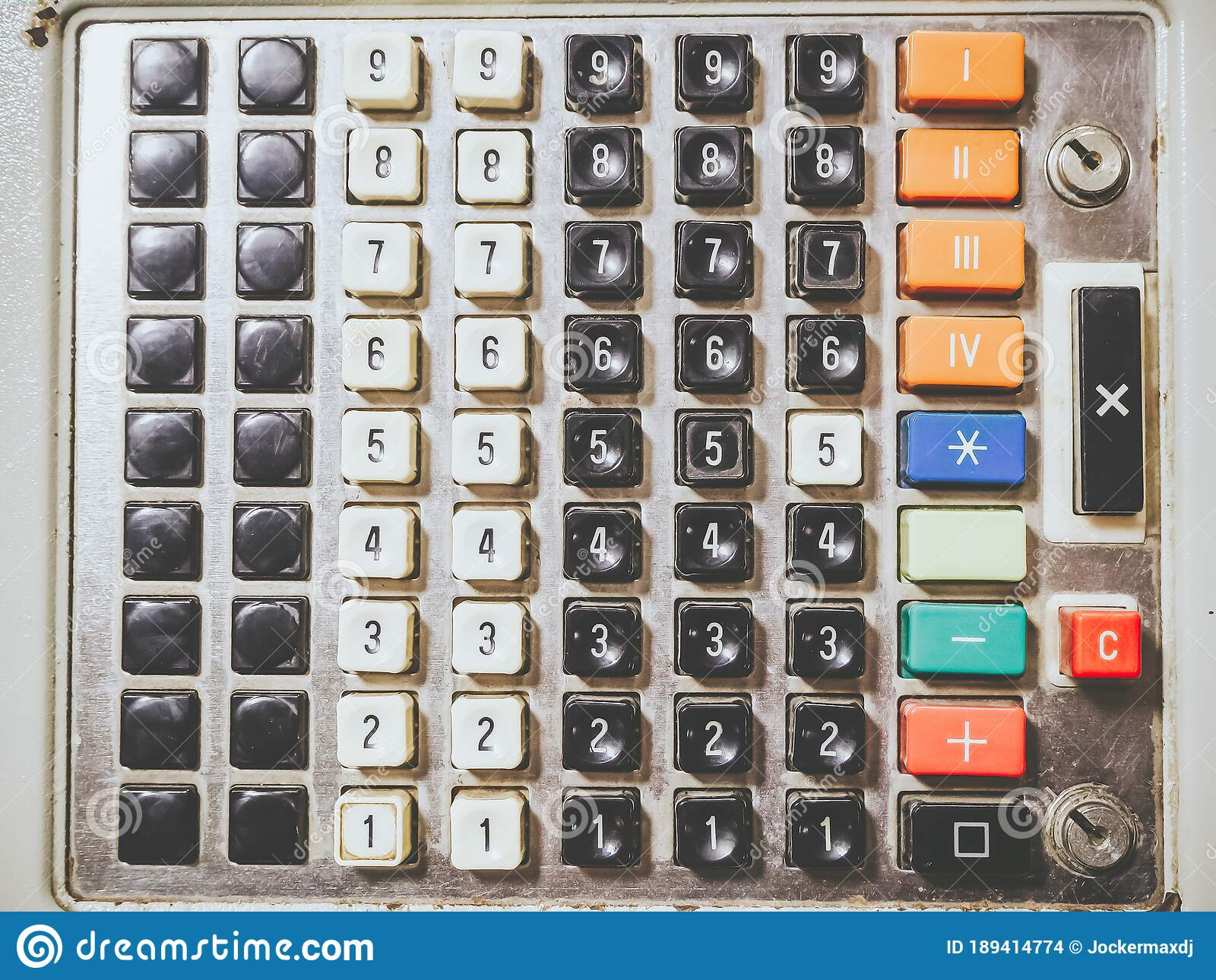 Enter the pertinent info, once entered you'll be in a position to collect the ideal quantity of cash owed to the restaurant or bar. Fragment Of An Old Soviet Cash Register Machine With Buttons With Numbers Full Screen Closeup Photo Stock Photo Image Of Cash Profit 189414774