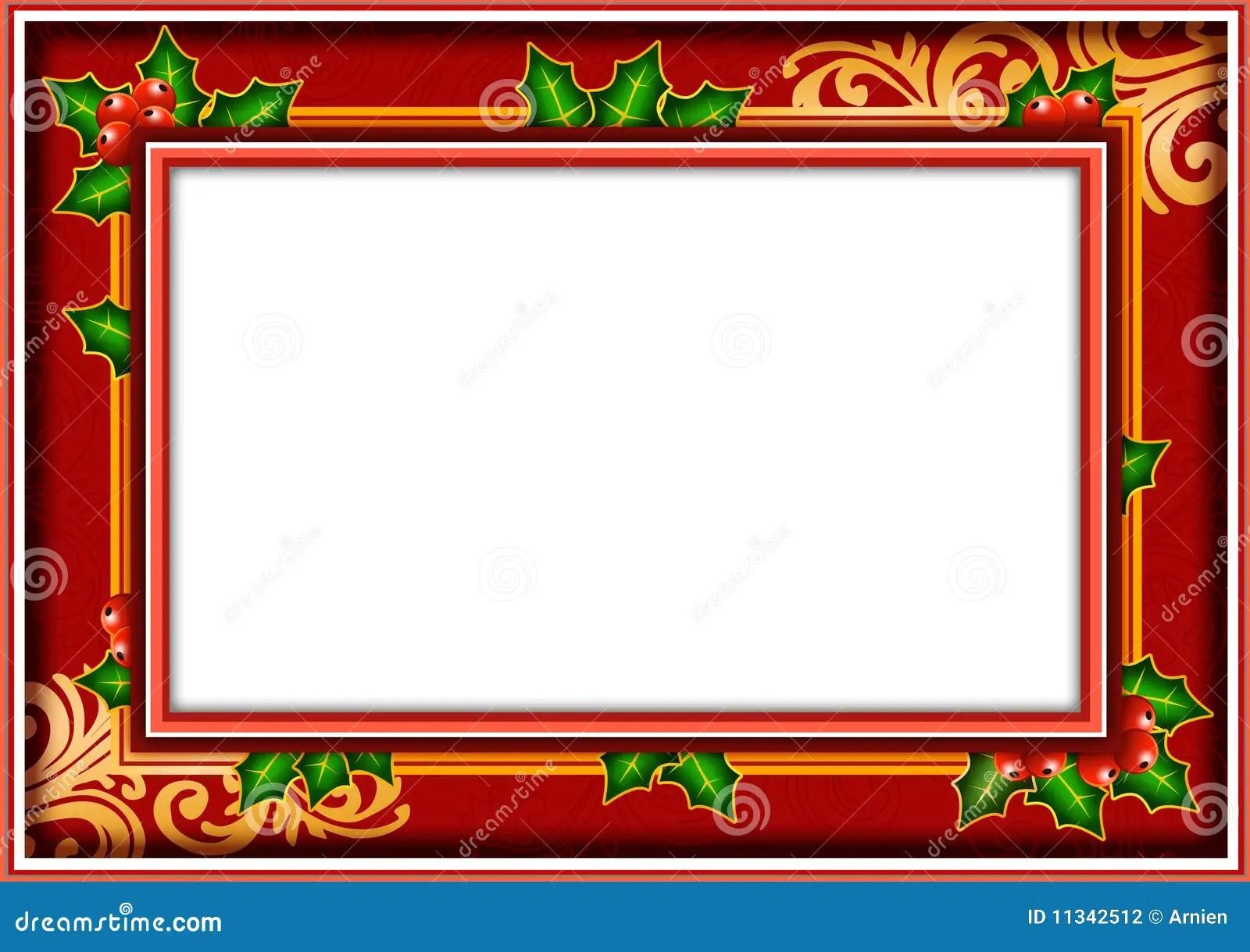 Frame Photo Christmas Stock Illustration Image Of Cover