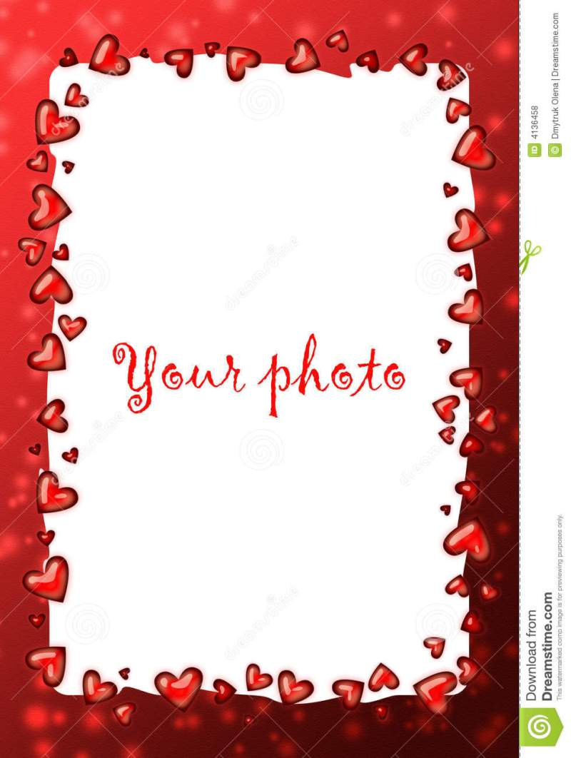 valentine photo frames free | Coloringsite.co