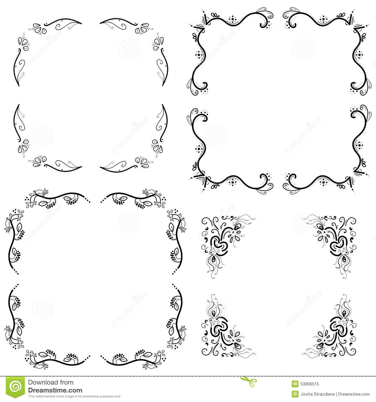 Frames Borders Stock Illustration