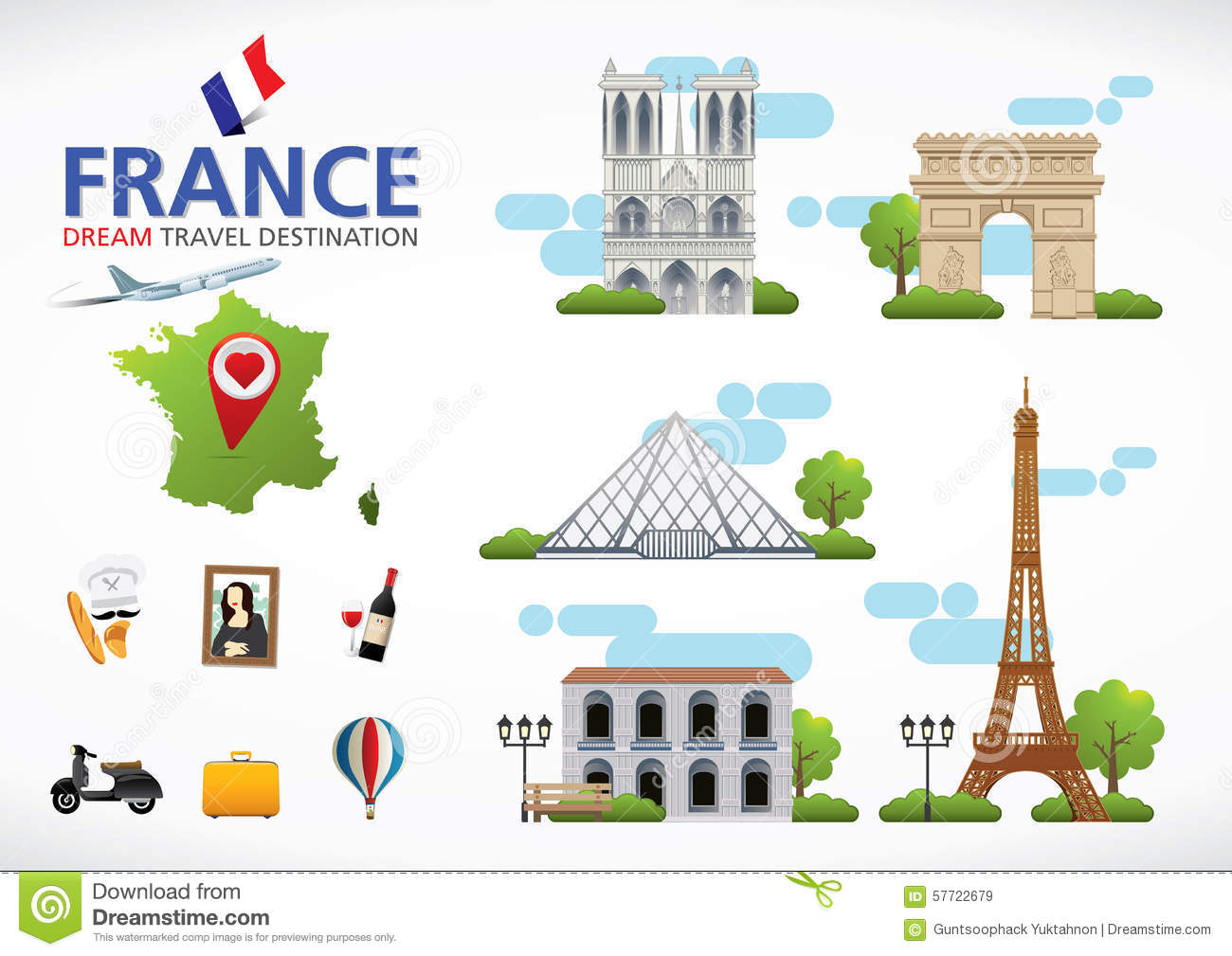 France Travel Dreams Destination France Travel Symbols