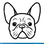 French Bulldog Black And White Hand Drawn Cartoon Portrait Funny Cute Bulldog Puppy Face Dogs Pets Themed Design Element Icon Stock Illustration Illustration Of French Frenchie 153333240