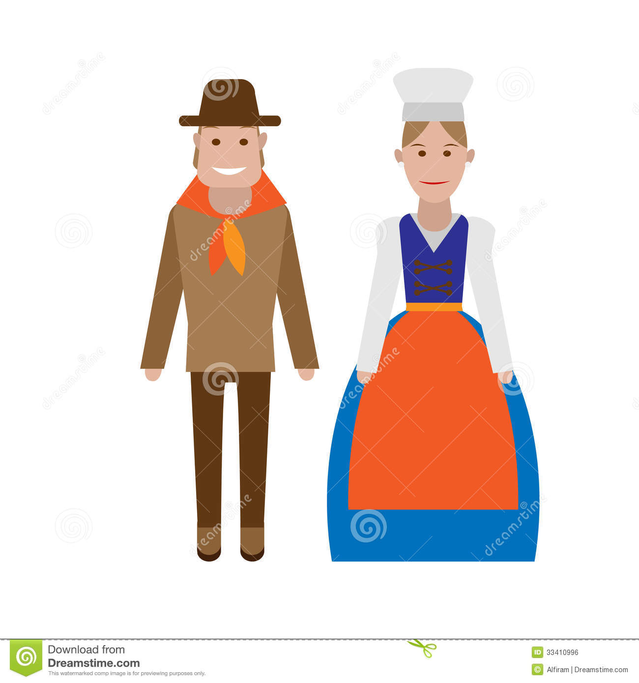 French National Costume Royalty Free Stock Image