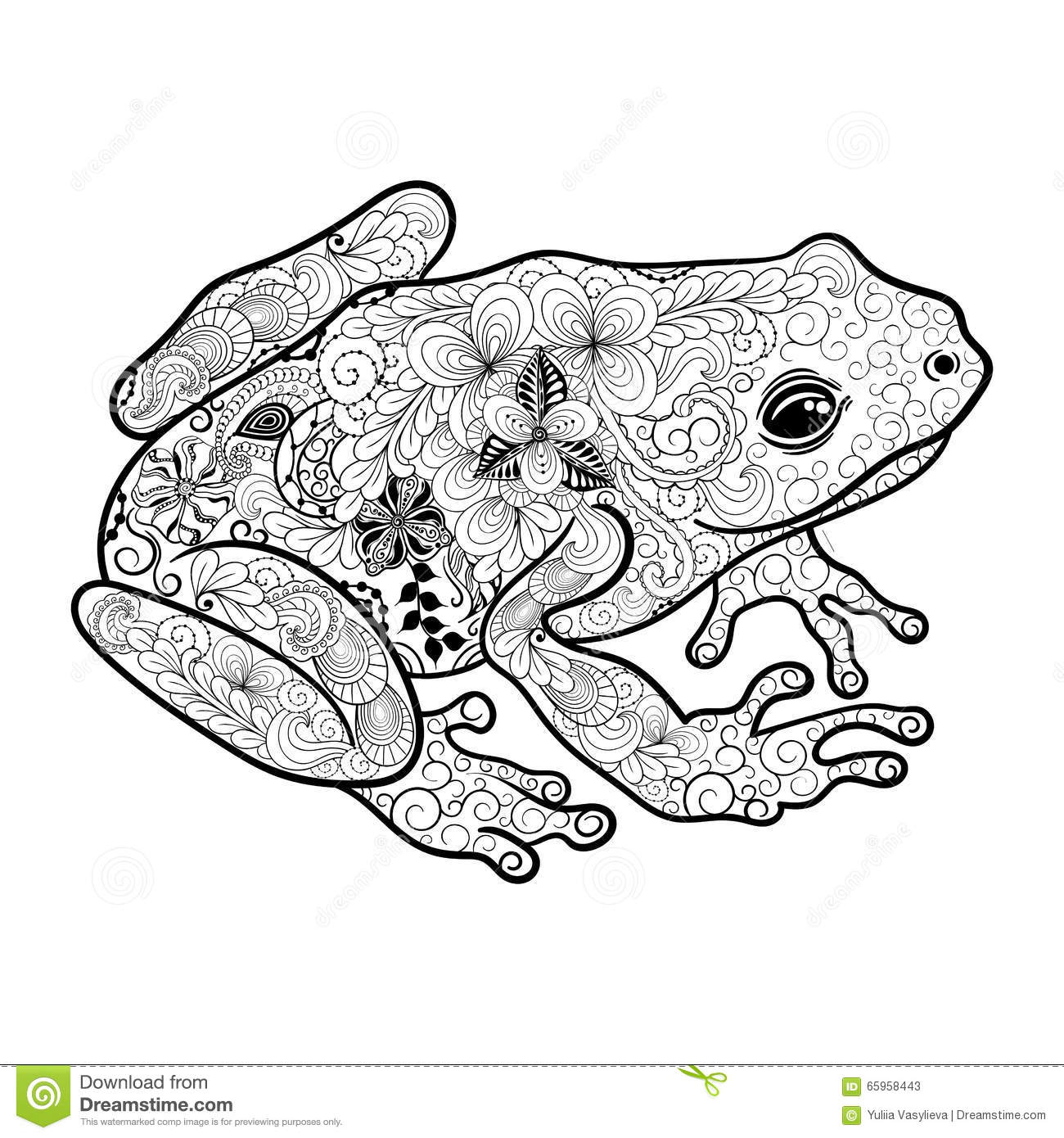 Frog Doodle Stock Vector Illustration Of Decorative
