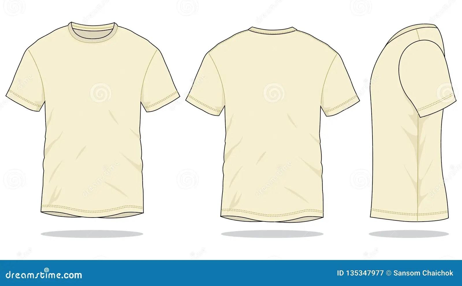 Cream T Shirt Vector For Template Stock Illustration Illustration Of Coats Light 135347977