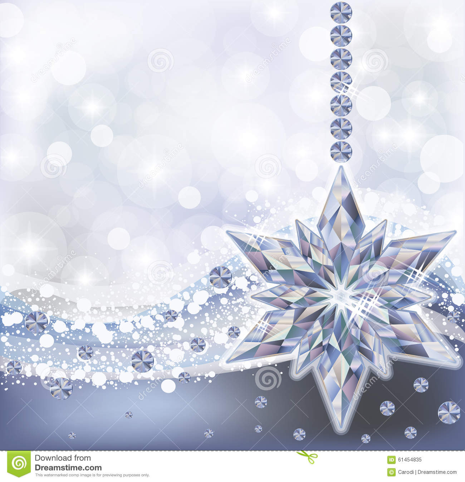 Frozen Wallpaper With Diamond Snowflake Vector Stock