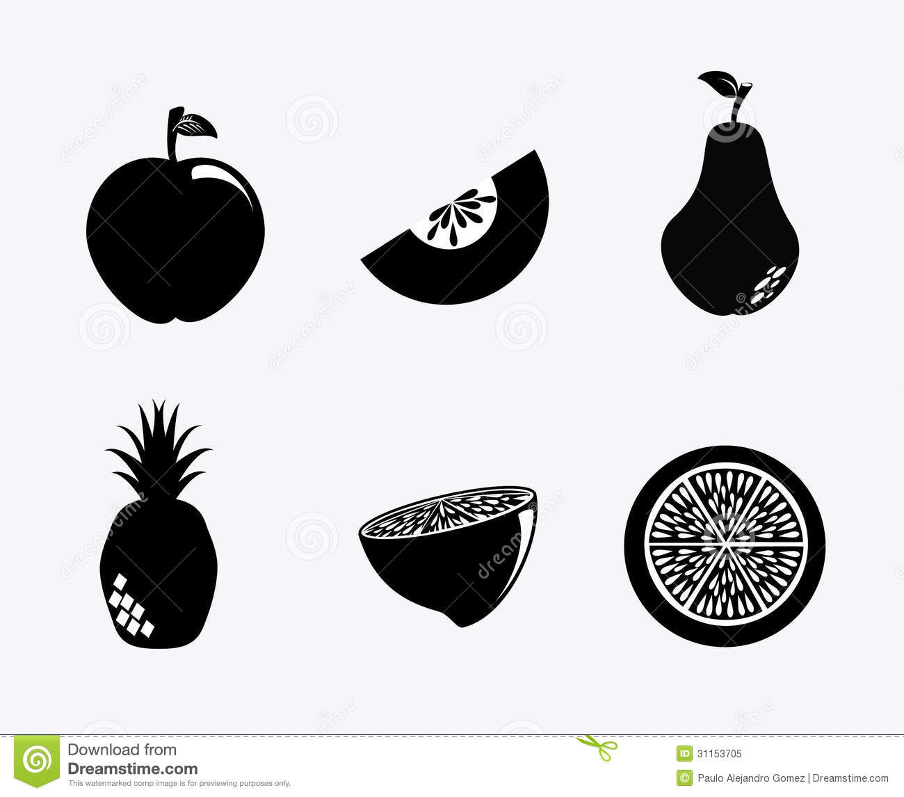 Fruit Silhouette Royalty Free Stock Photo