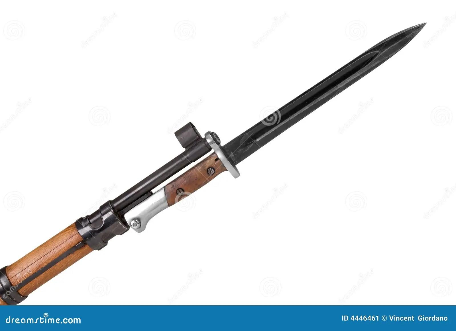 Fucile Militare Con La Baionetta Immagine Stock