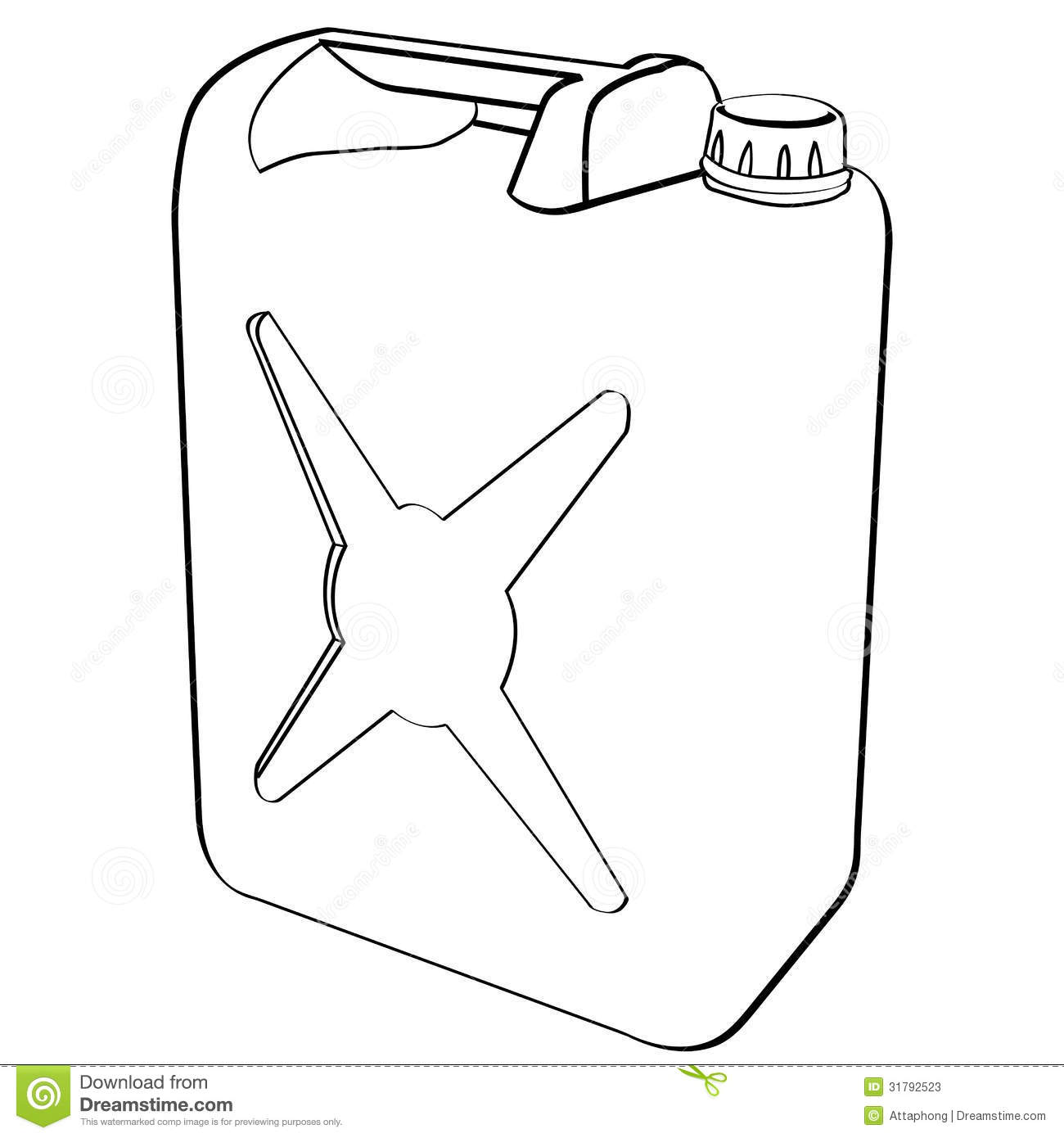 Fuel Can Vector Stock Vector Illustration Of Gallon