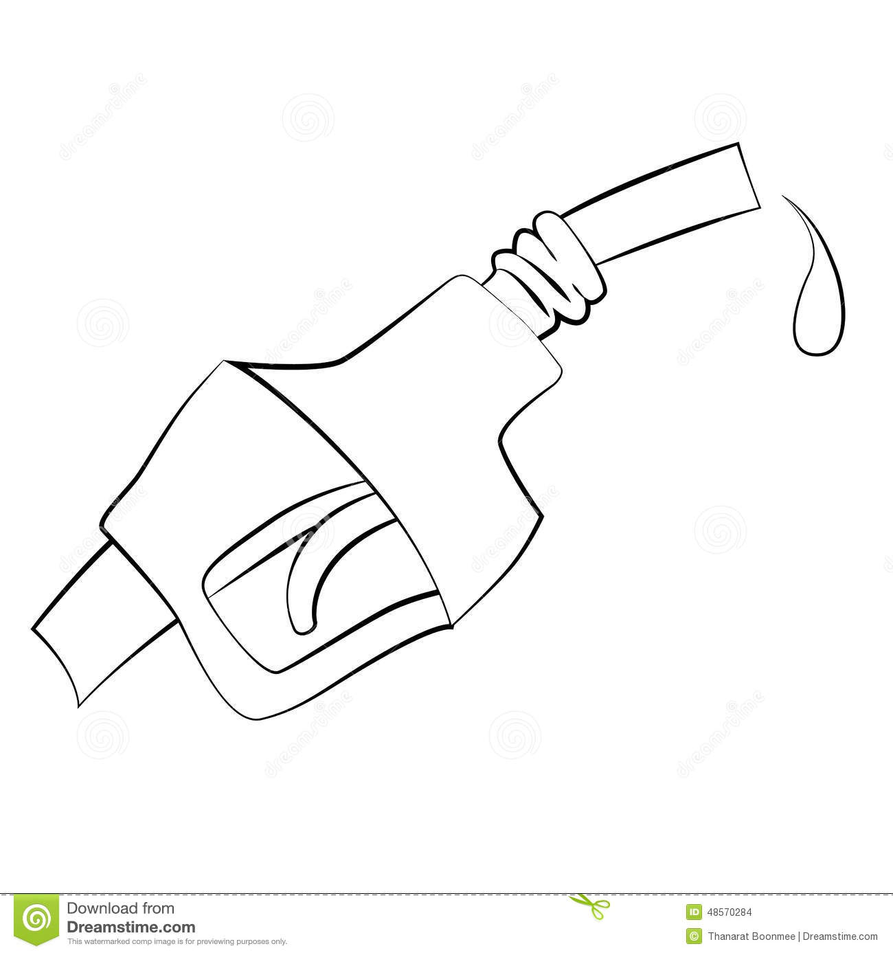 Fuel Dispenser Nozzle Stock Vector Illustration Of Petrol