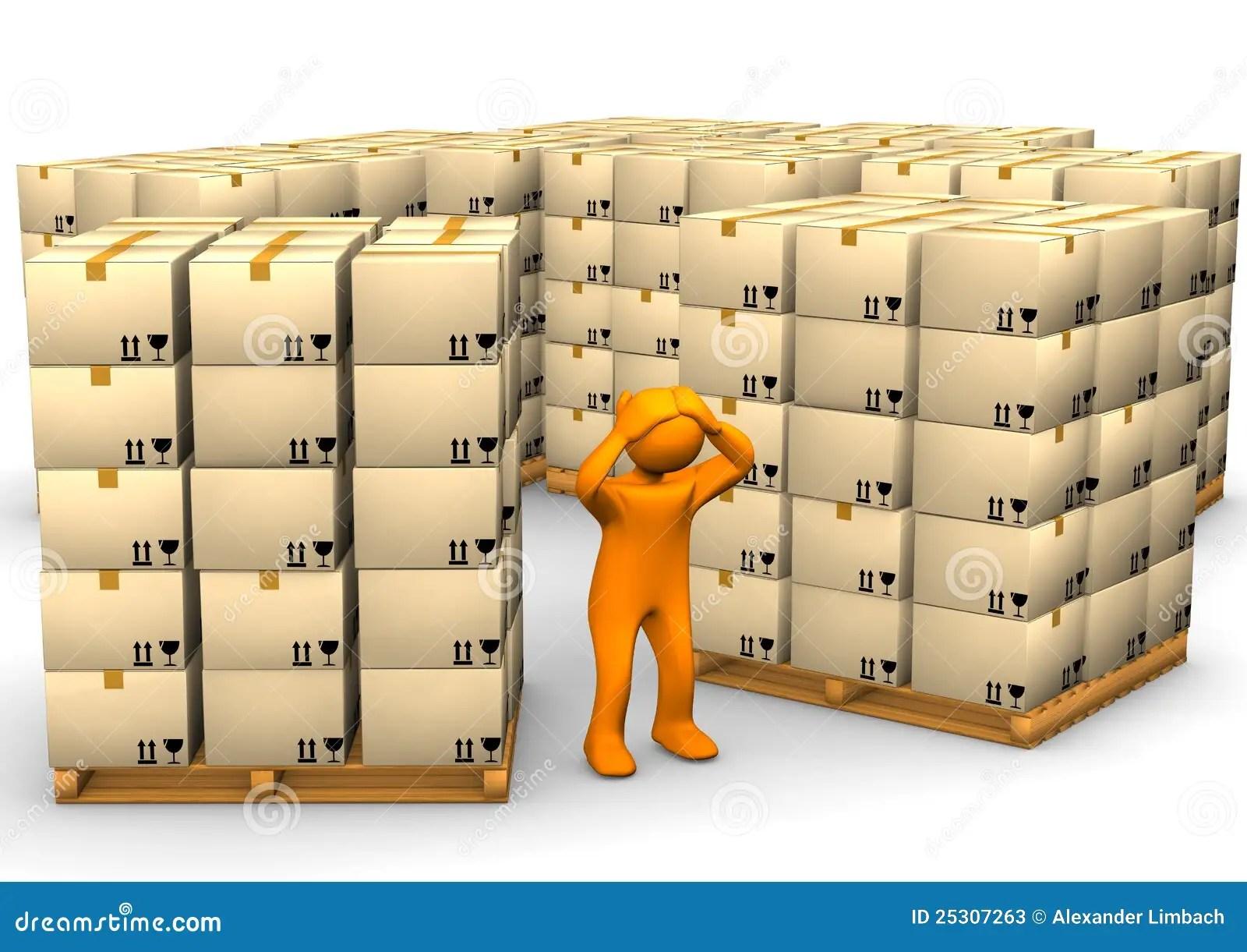 Full Warehouse Stock Illustration Illustration Of