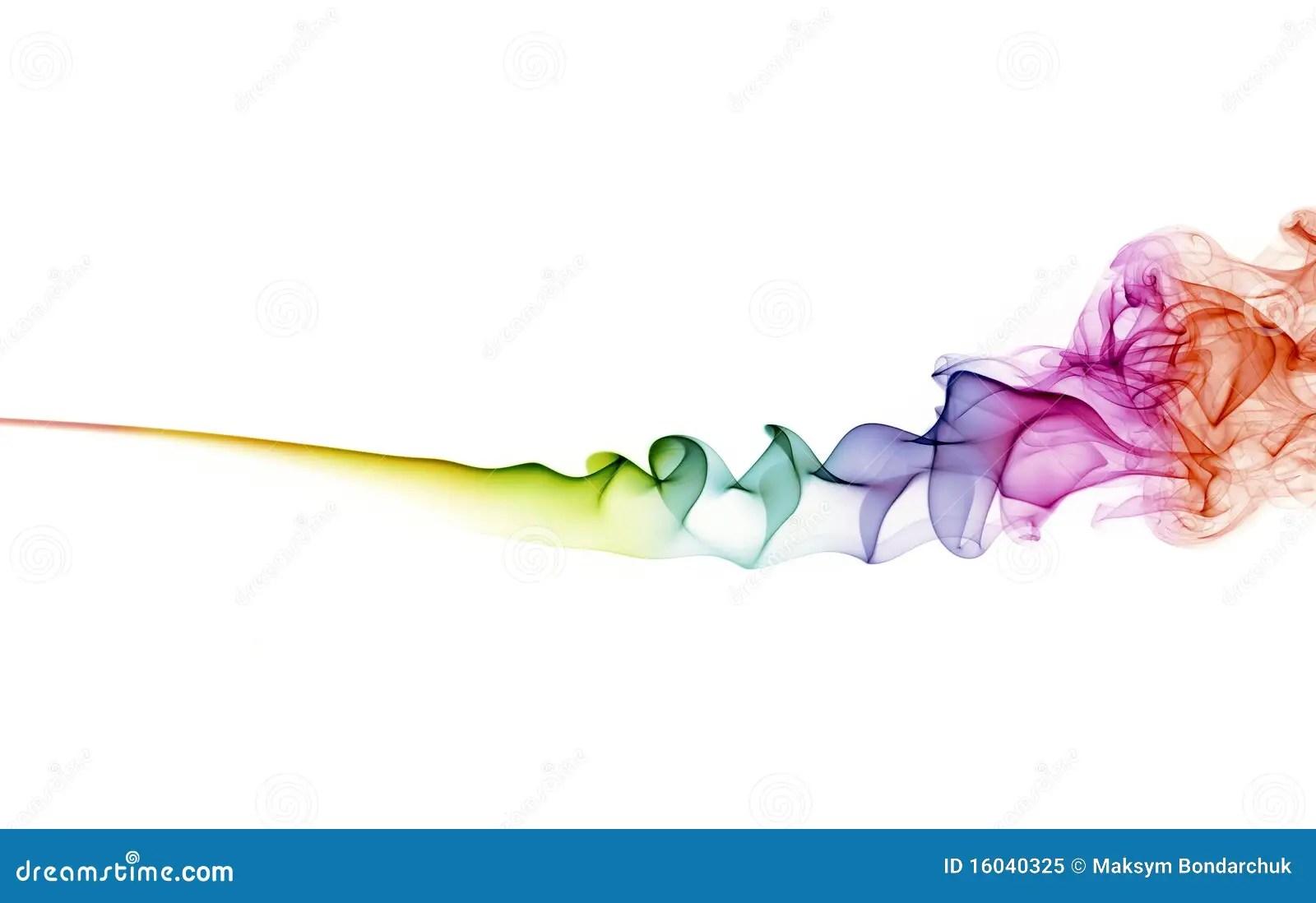 Fumee Abstraite De Couleur Sur Le Fond Blanc Image Stock