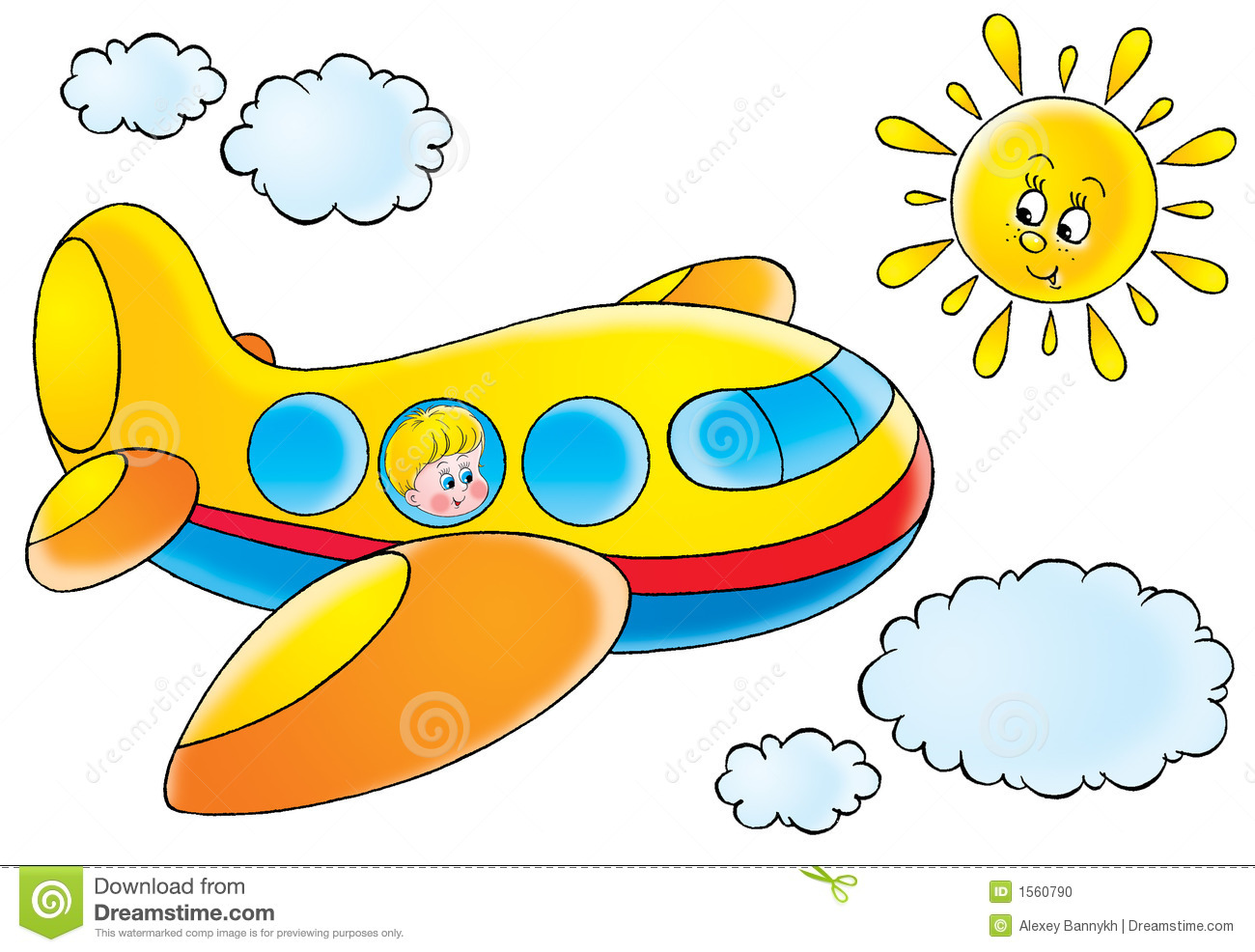 Funny Aeroplane Stock Vector Illustration Of Flies