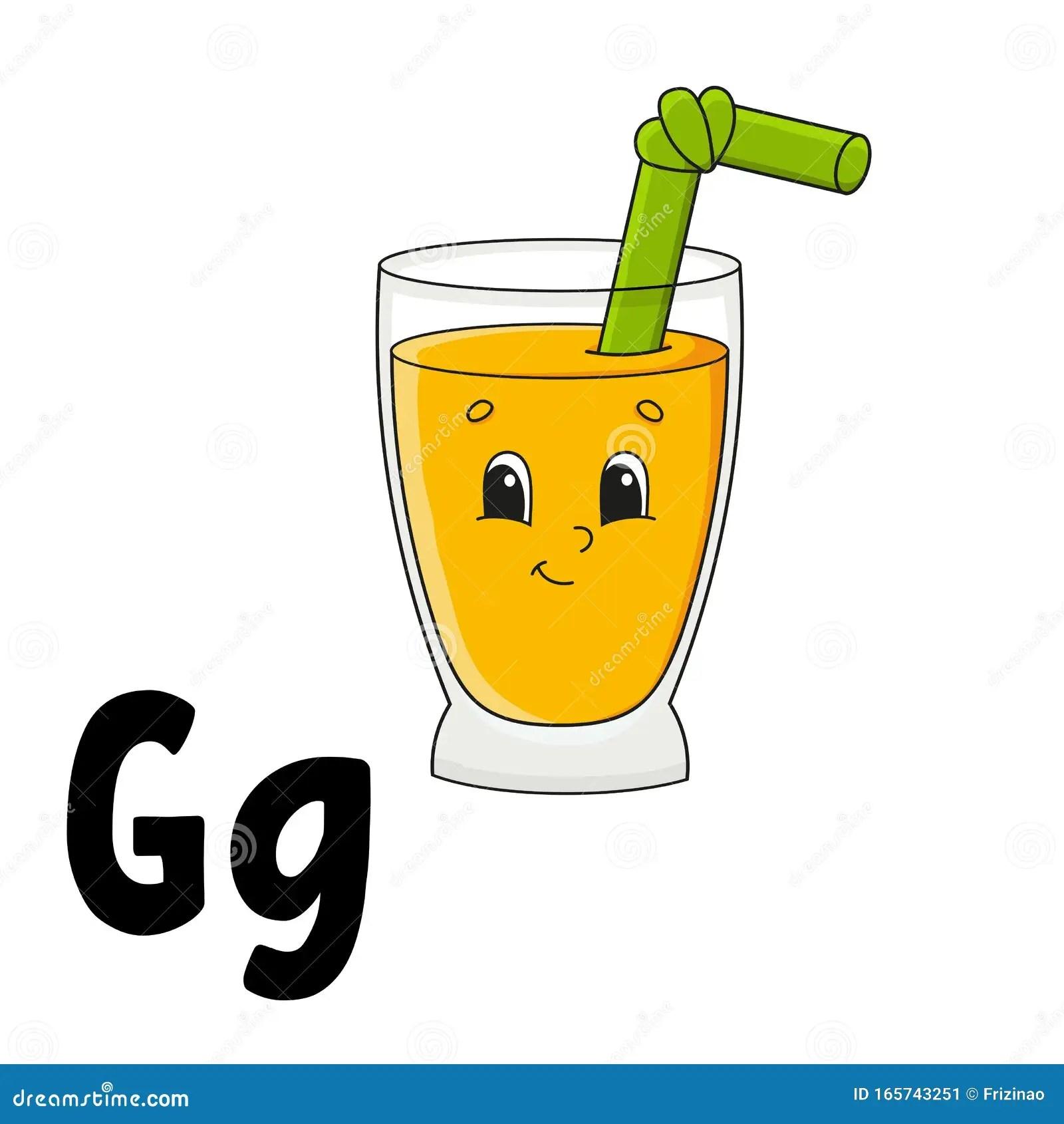 Funny Alphabet Abc Flash Cards Cartoon Cute Character