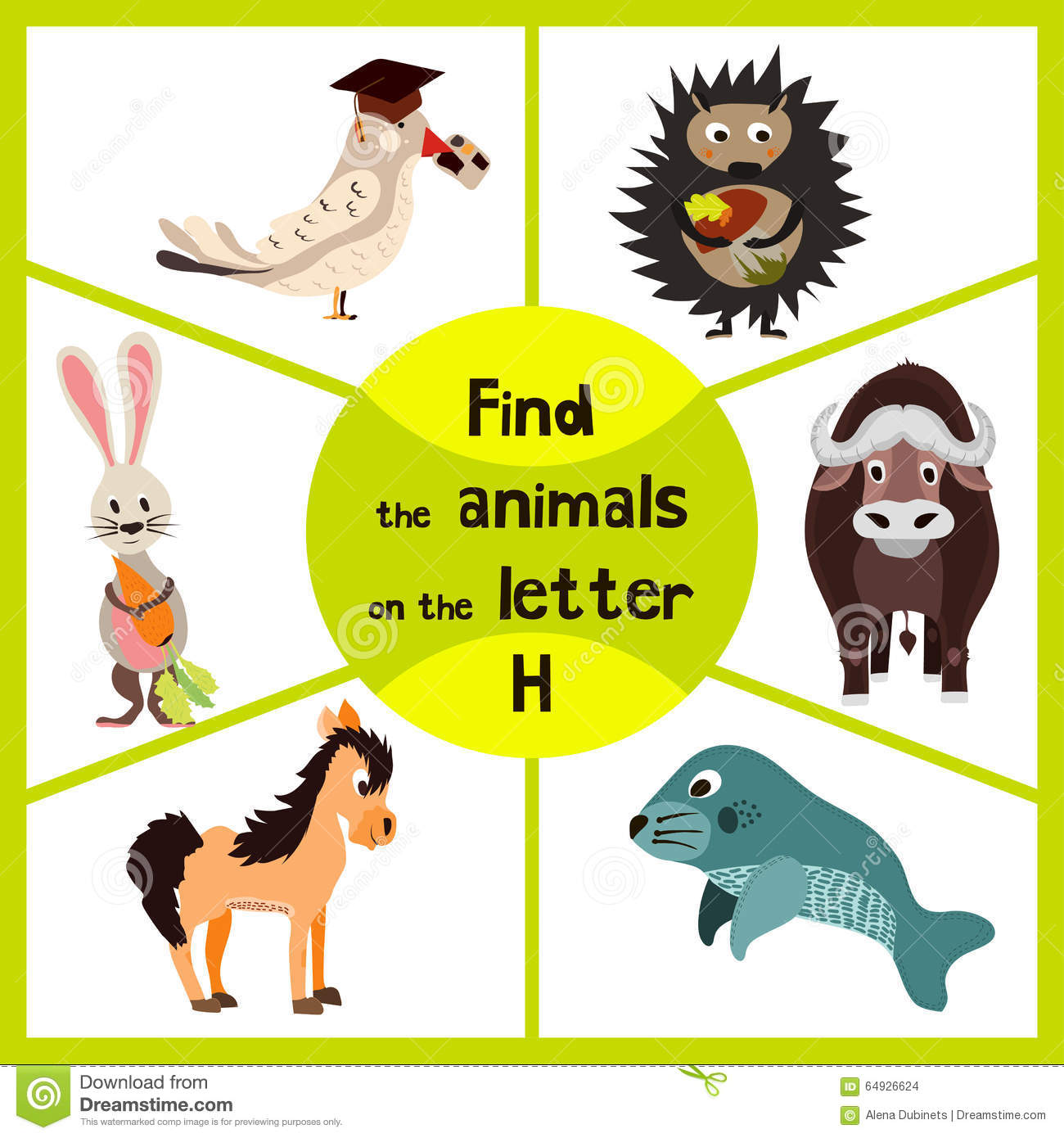 Funny Learning Maze Game Find All Of Cute Wild Animals 3 The Letter H Forest Hedgehog And The