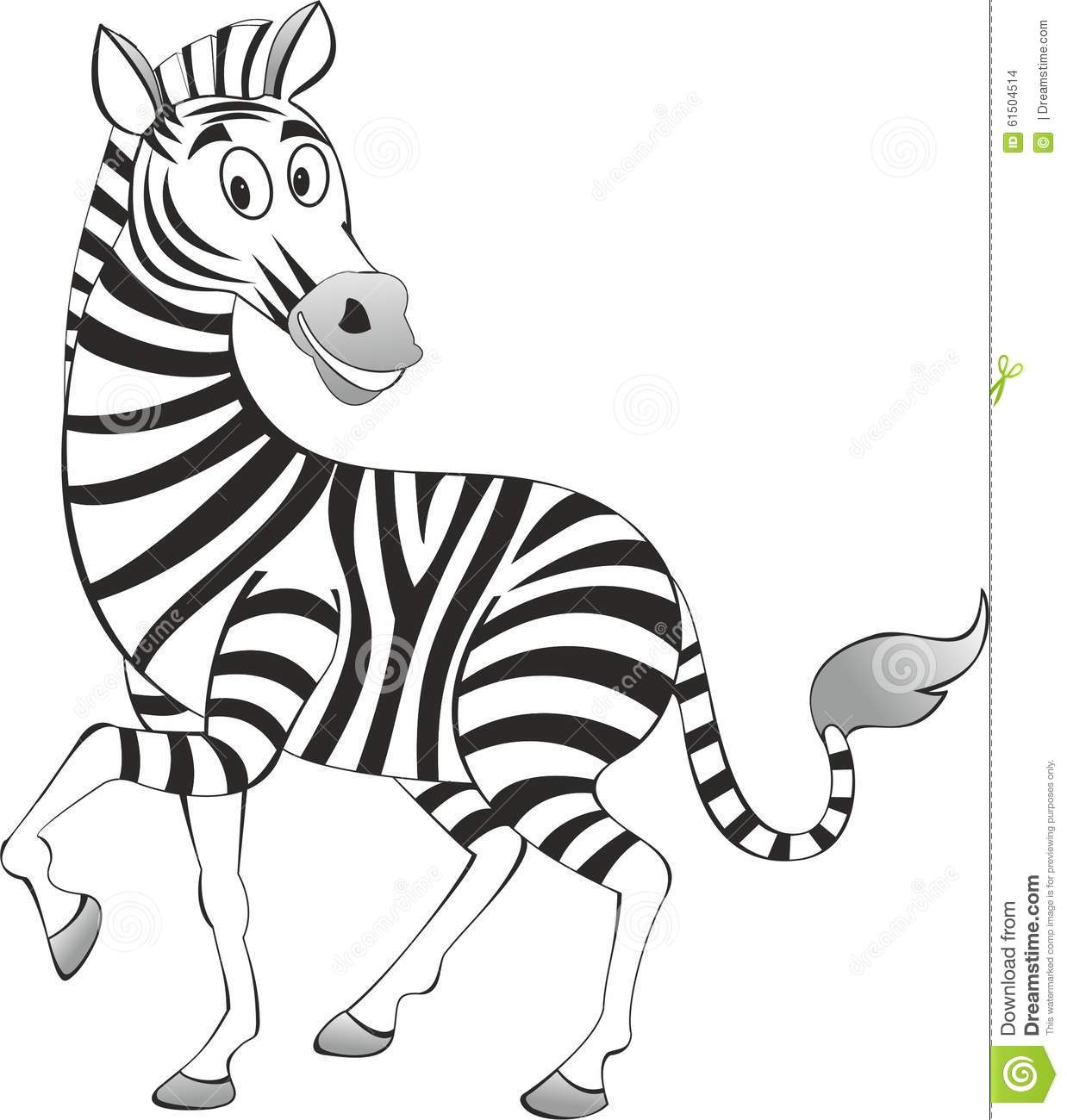 Funny Painted Zebra Vector Stock Vector Illustration Of