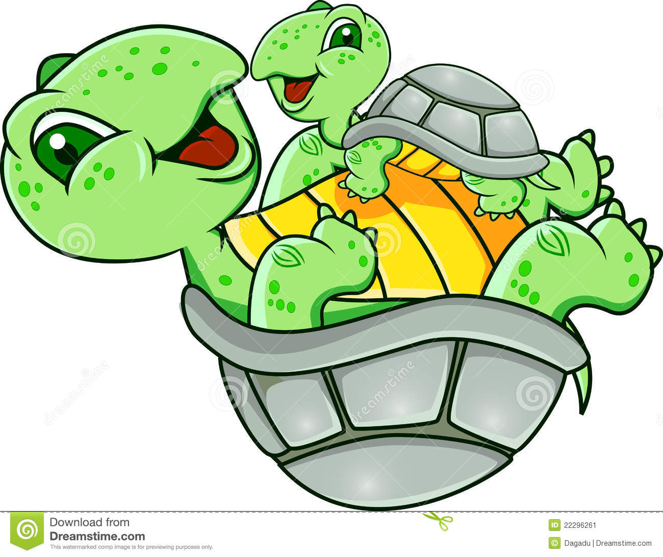 Funny Turtle Stock Vector Illustration Of Cheer Friendly