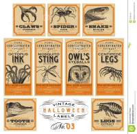 old fashioned halloween stickers