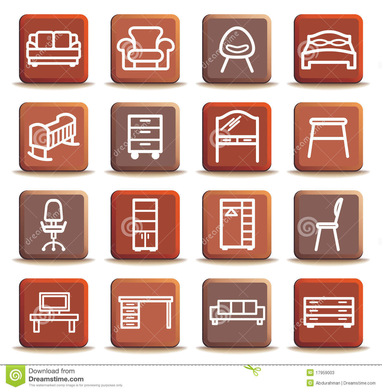 Furniture Stock Vector Illustration Of Decoration Table