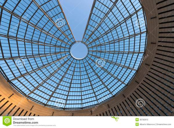 Futuristic Glass-steel Dome - Rovereto Italy Royalty Free ...