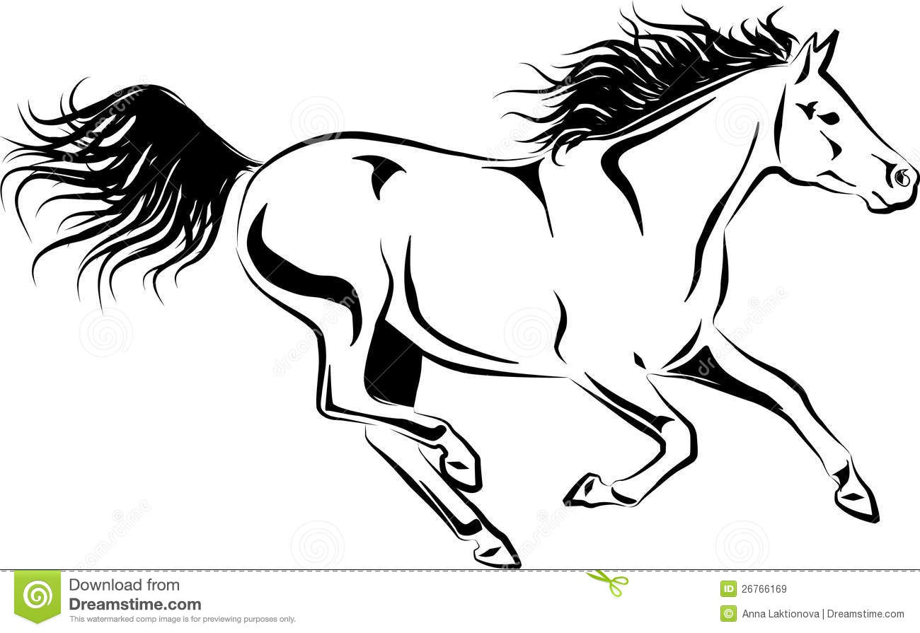 Galloping Horse Stock Vector Illustration Of Movement