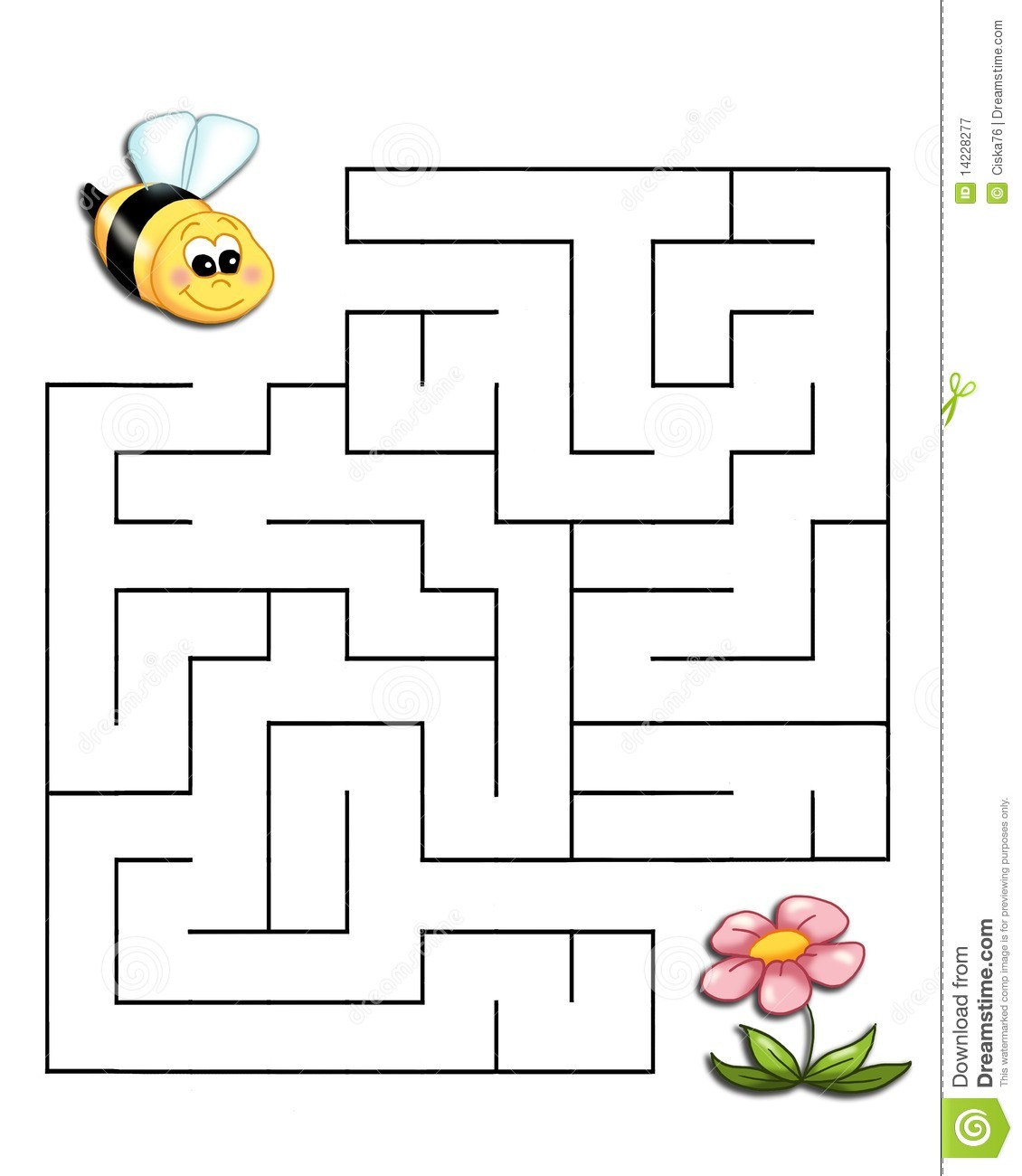 Game 19 The Bee Reaches The Flower Stock Illustration