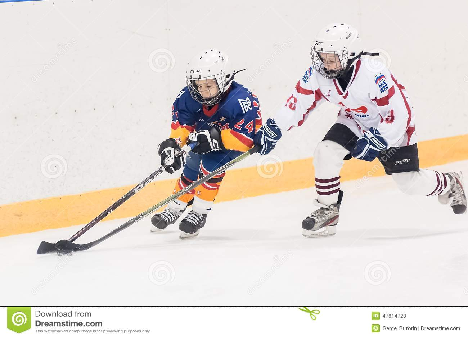 Game Between Children Ice Hockey Teams Editorial Stock