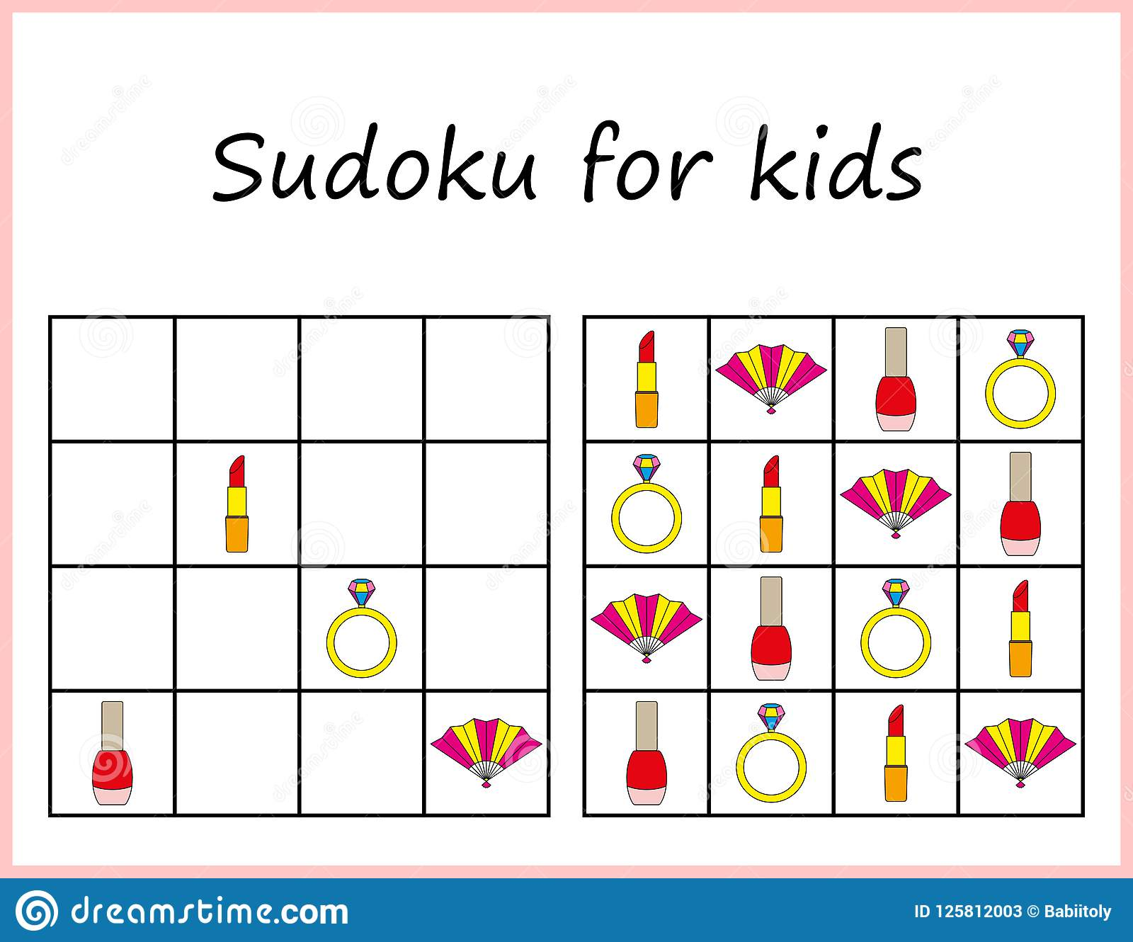 Sudoku For Kids Game For Preschool Kids Training Logic