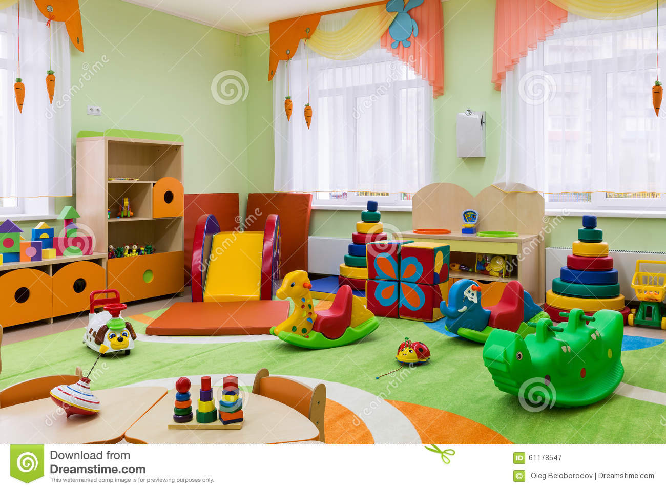 Game Room In The Kindergarten Stock Image   Image of childrens     Game room in the kindergarten