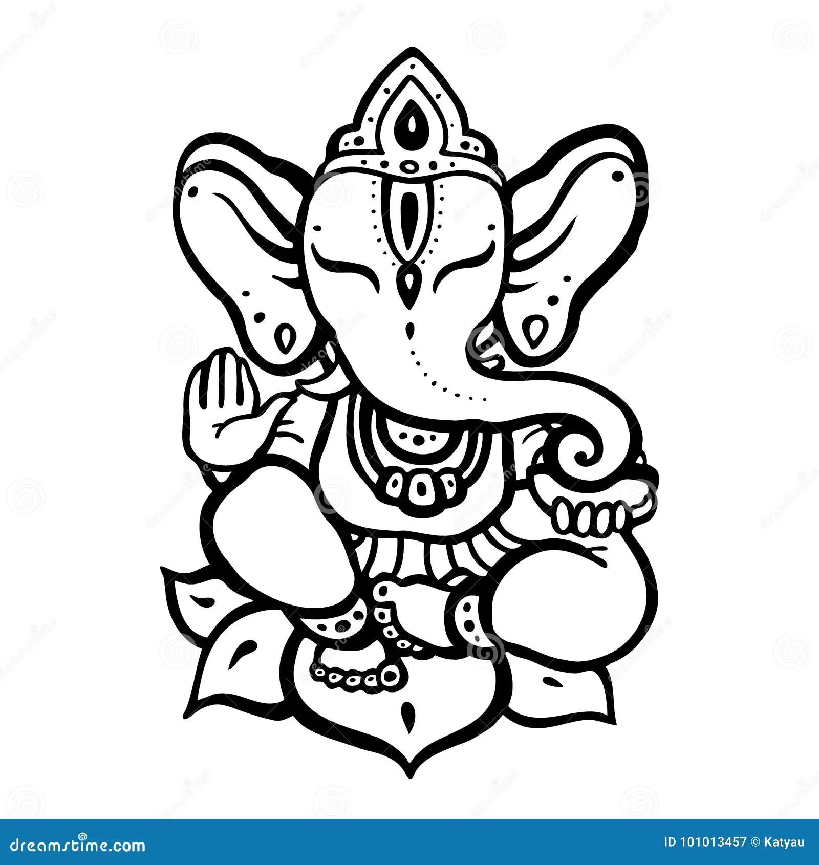 Ganesha Da Pedra Ilustracao Stock Ilustracao De Grafico