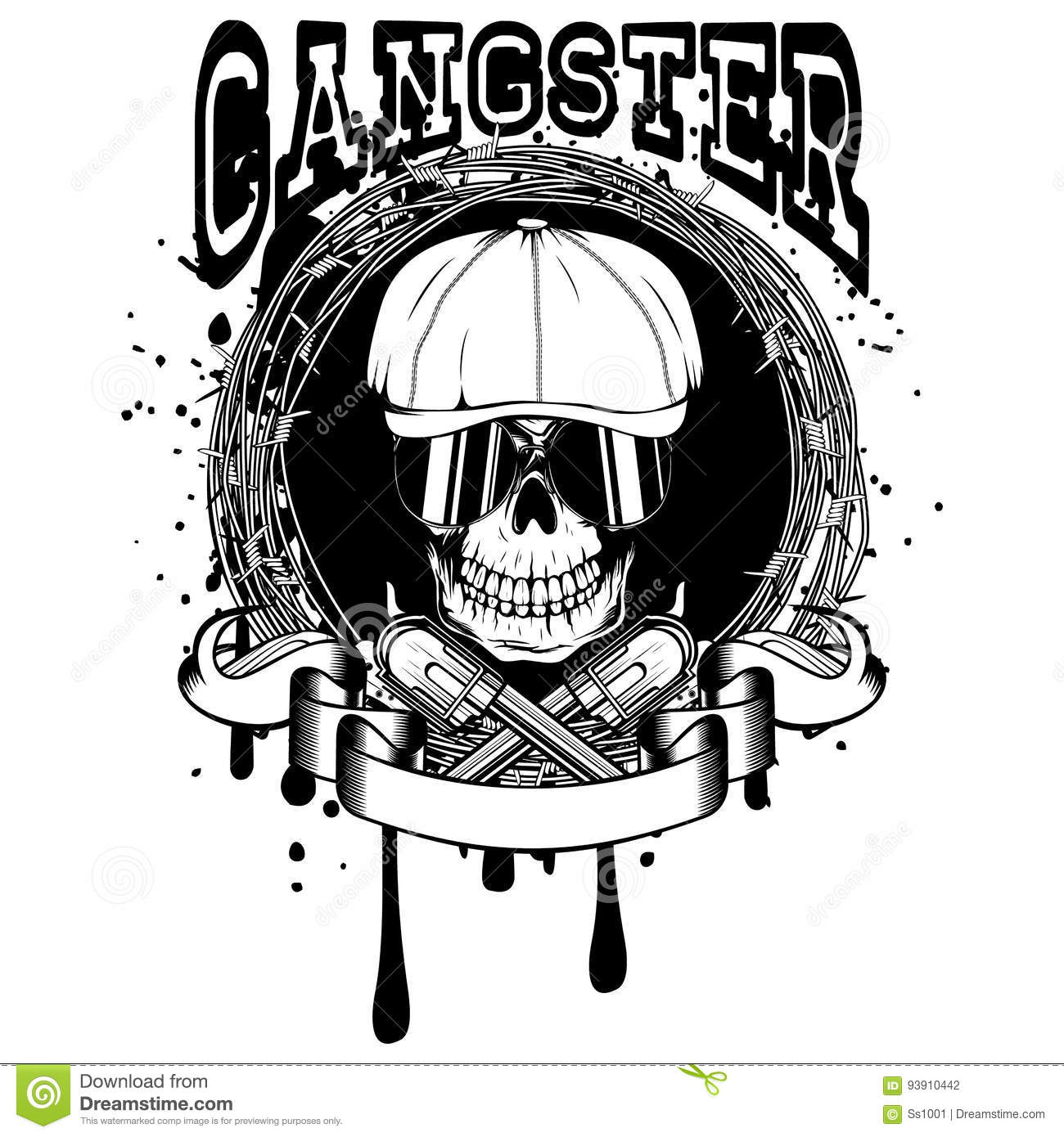 Gangster Tattoo Numbering Royalty Free Stock Image