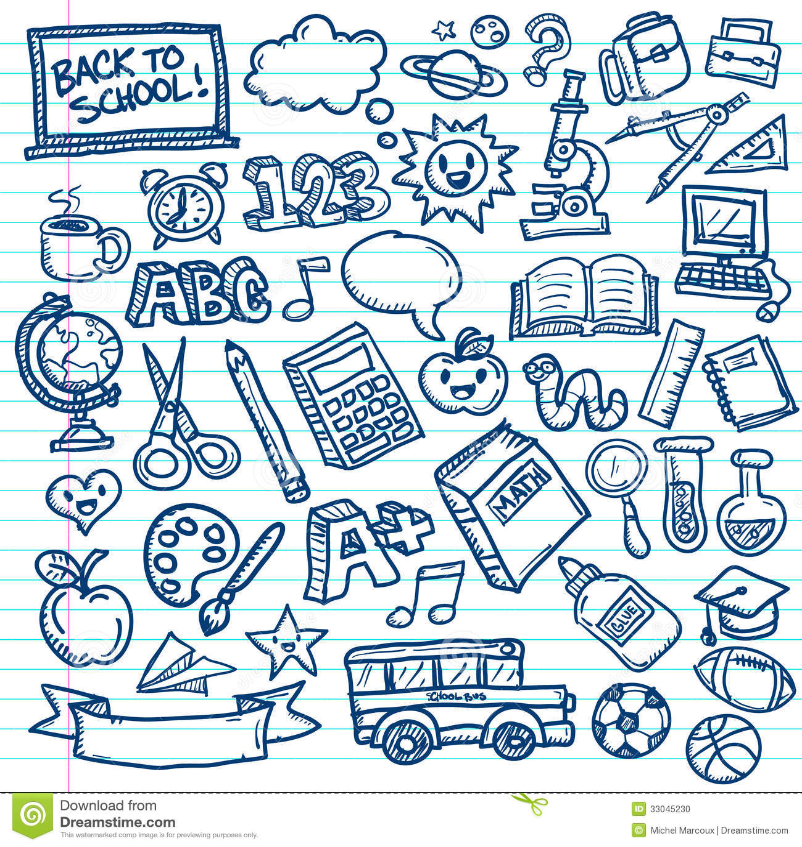 Garatujas Do Vetor Da Escola Ilustracao Do Vetor