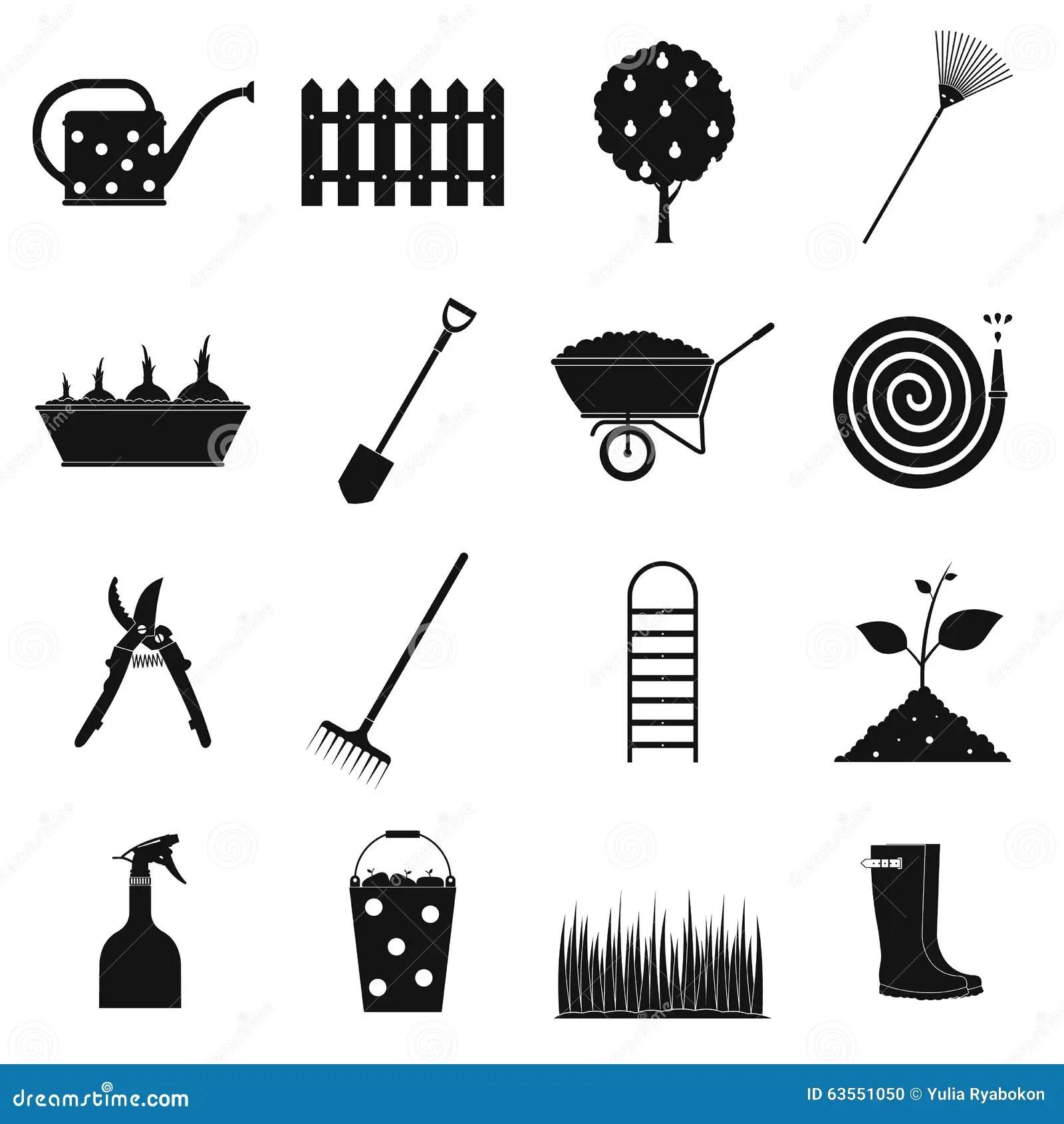 Plain Icons Set Vector Illustration