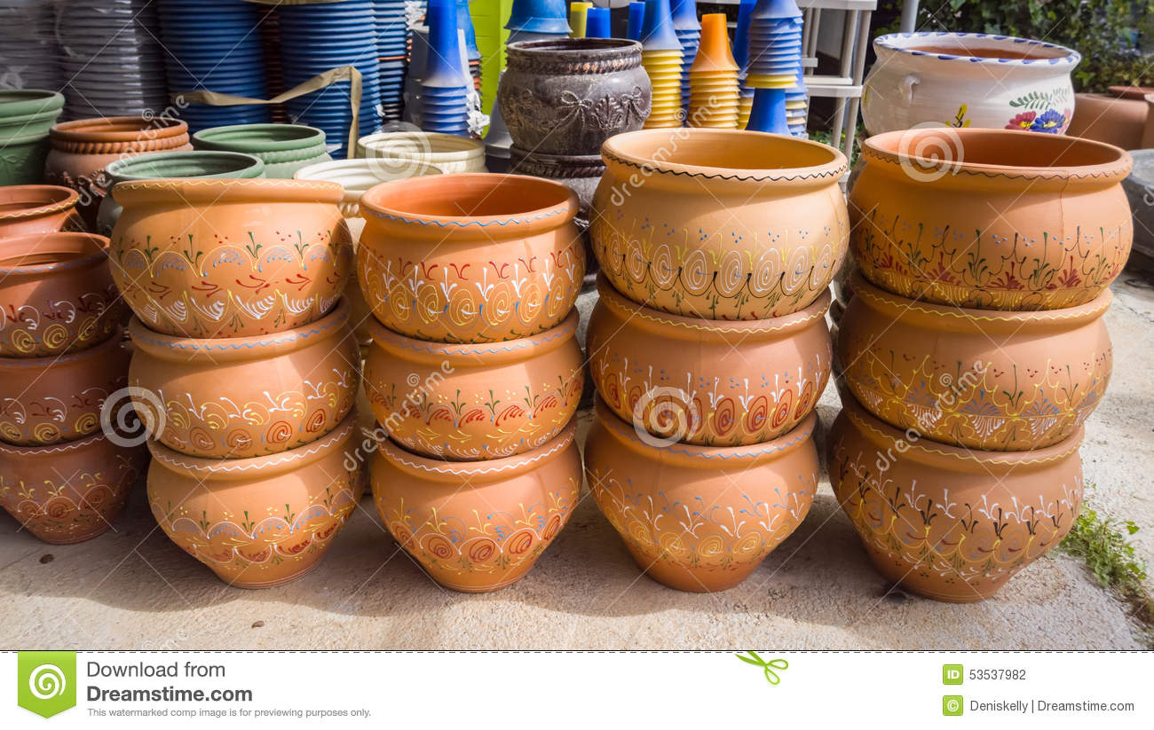 Garden Plant Pots Stock Photo Image Of Horticulture 53537982
