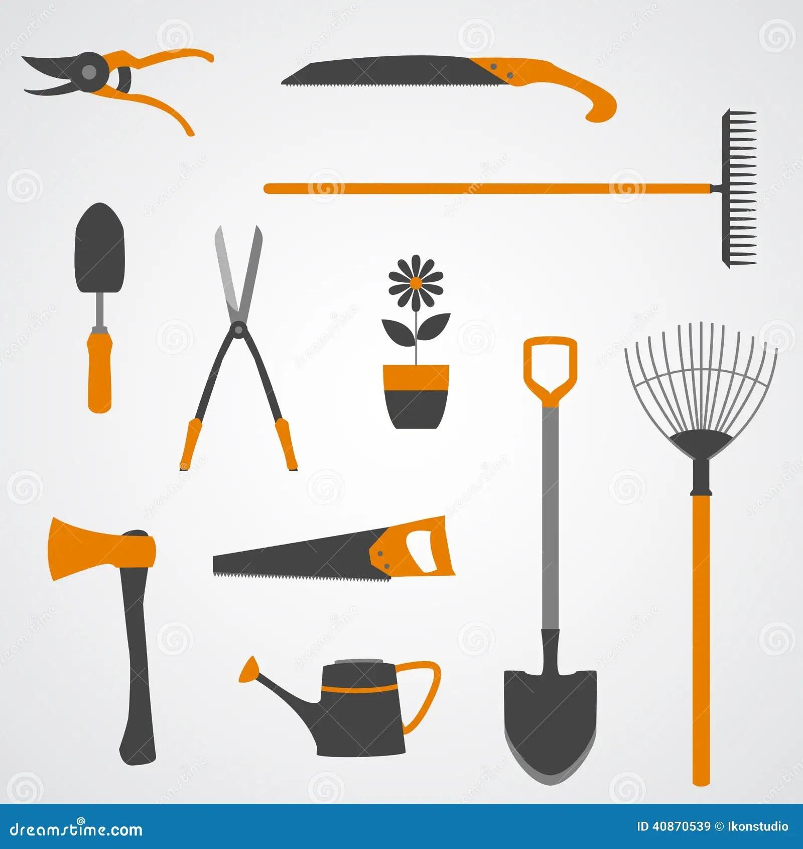 Garden Tools Icons Stock Vector