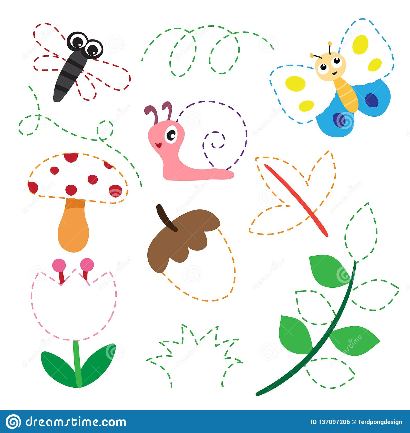 Garden Worksheet Vector Design Stock Illustration