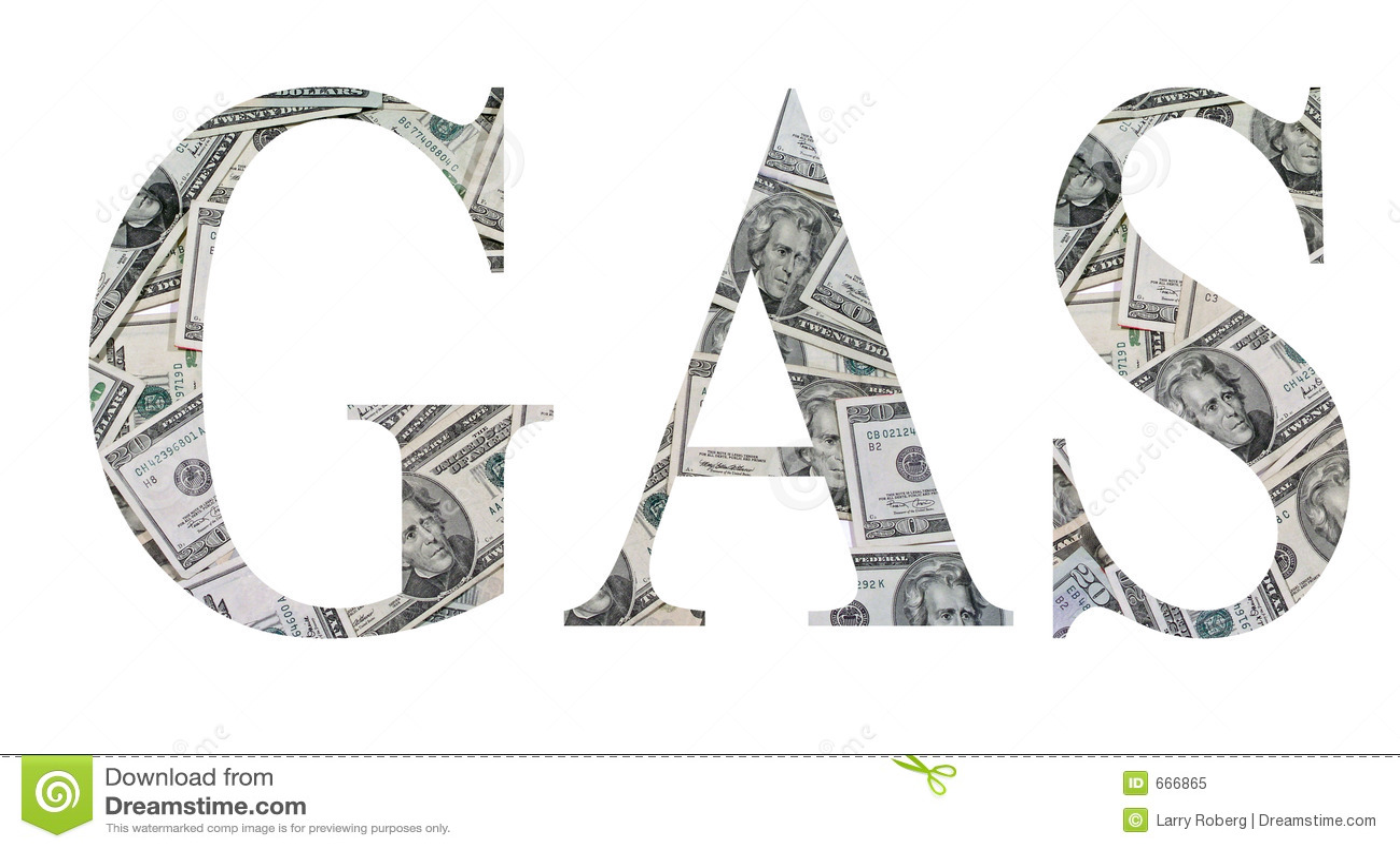 Gas Money Stock Illustration Illustration Of Twenty