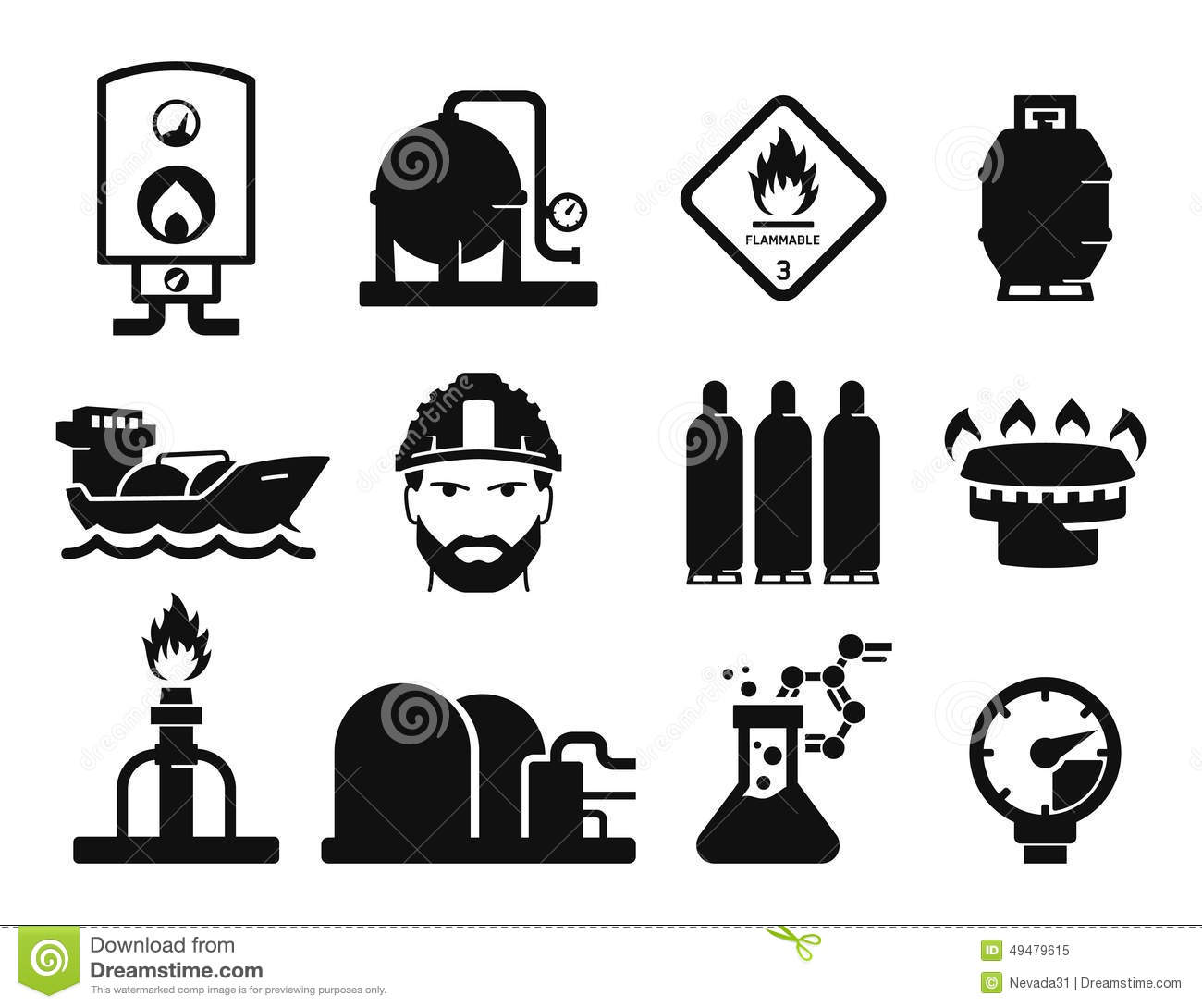 Gas And Oil Stock Illustration